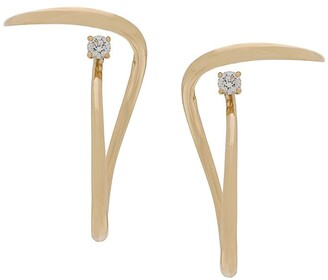 Charlotte Chesnais 18kt yellow gold Looping diamond earrings