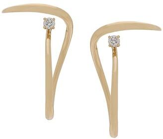 Charlotte Chesnais 18kt yellow gold Looping diamond earrings