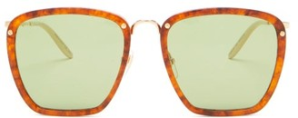 Gucci Square Tortoiseshell-acetate Sunglasses - Brown
