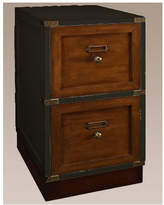 Campaign Filing Cabinet in Black