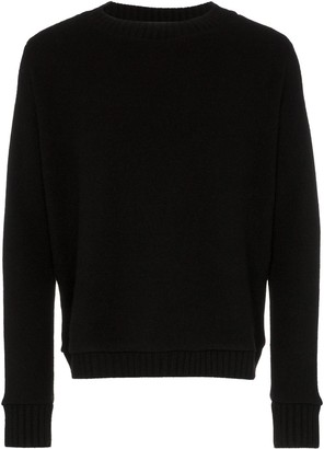 The Elder Statesman Redwoods Rear Print Cashmere Jumper