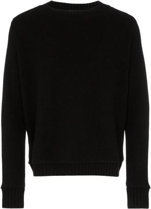 The Elder Statesman redwoods rear print cashmere jumper