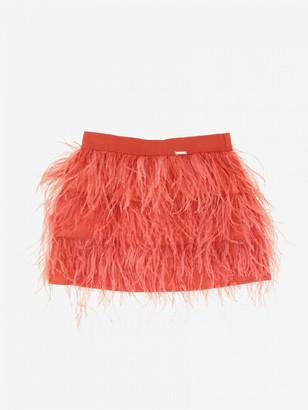 Liu Jo Skirt Of Feathers With Logo