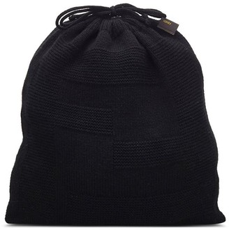 Fendi Pre Owned Cashmere Knitted Drawstring Bag