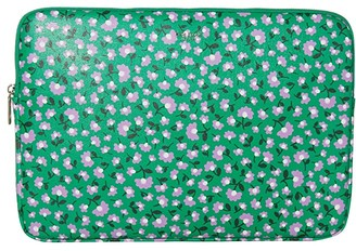 Kate Spade Party Floral Laptop Sleeve (Meadow Green) Bags