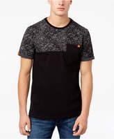 Superdry Men's Orange Logo Splatter Print Pocket T-Shirt
