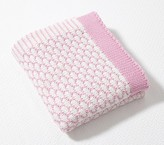 Pottery Barn Kids Honeycomb Baby Blanket, Light Pink