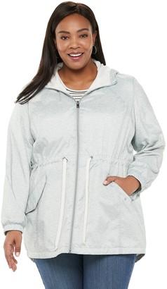 Free Country Plus Size Windshear Hooded Anorak Jacket