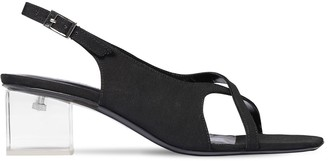 BY FAR 50mm Chris Grosgrain Sling Back Sandals