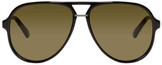 Gucci Black Pilot Aviator Sunglasses