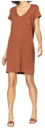 Lilla P V-Neck Dress in 100% Cotton (Sahara) Women's Clothing