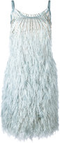 Alberta Ferretti feather dress - women - Silk/Polyamide/Polyester/Acetate - 40