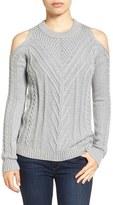 Vince Camuto Petite Women's Cold Shoulder Sweater