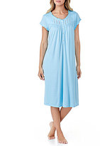 Eileen West Ruffled Crochet-Trimmed Waltz Nightgown