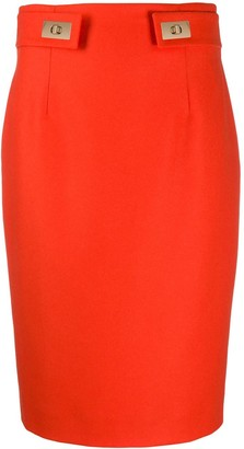 Paule Ka Fitted Pencil Skirt