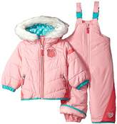 London Fog Baby Girls' Snowsuit With Snowbib and Puffer Jacket