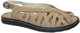 La Plume Beige Leather Warwick Sandal