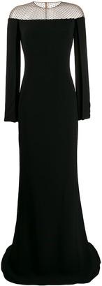 Stella McCartney crystal-mesh split-sleeve gown