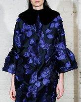 Lela Rose Mink Fur Collar, Black