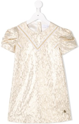 Roberto Cavalli Junior Brocade Effect Dress