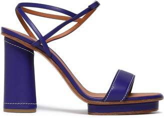 Giorgio Armani Leather Platform Sandals