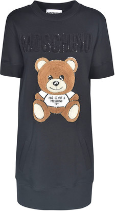 Moschino Bear Embroidered Logo Dress