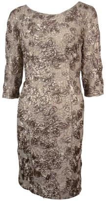 Alex Evenings Women's Short Rosette Shift Dress with 3/4 Sleeves (Petite and Regular Sizes)