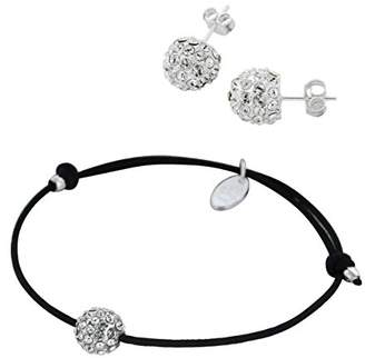 Swarovski Louise Zoé 7LZ0434SW WH Bracelet and Earrings - Brass with Crystals