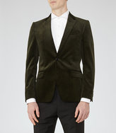 Green Velvet Blazer Mens - ShopStyle