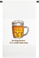Mariasch Studios Dog Beers Waffle Knit Kitchen Towel