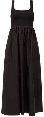 Matteau The Knit And Cotton Maxi Dress - Black
