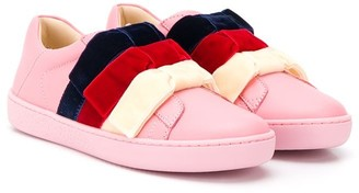 Gucci Kids Bow-Embellished Sneakers
