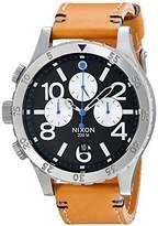 Nixon Men's A3631887 48-20 Chrono Leather Watch