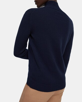 Theory Basic Turtleneck Sweater in Feather Cashmere