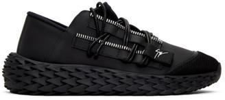 Giuseppe Zanotti Black Leather Urchin Sneakers