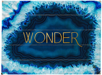 One Bella Casa Geode Wonder Gold Planked Wood Wall Decor By Obc