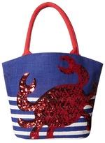 Mud Pie Boathouse Totes - Crab Tote Handbags