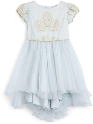 Lesy Royal Motif Puff-Sleeved Dress (6-14 Years)