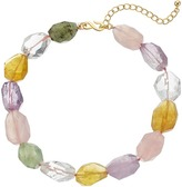 """Kenneth Jay Lane 16"""" Multi Pastel Faceted Stone Necklace"""
