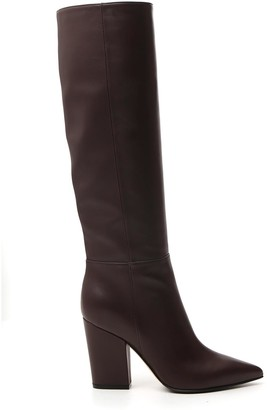 Sergio Rossi Pointed Toe Knee High Boots