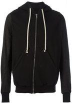 Rick Owens drawstring zipped hoodie