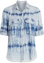 Bella Dahl Tie-Dye Utility Shirt