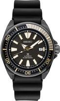 Seiko Automatic Diver Mens Black Strap Watch-Srpb55