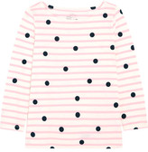J.Crew Printed Striped Cotton-jersey Top - Pink