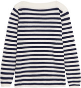 See by Chloe Mesh-paneled striped cotton-blend sweater