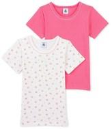 Petit Bateau Set of 2 girls plain t-shirts