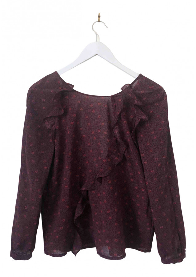 Thumbnail for your product : BA&SH Purple Polyester Tops