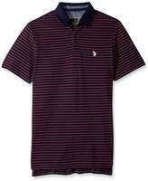 U.S. Polo Assn. Men's Classic Fit Striped Short Sleeve Pique Polo Shirt
