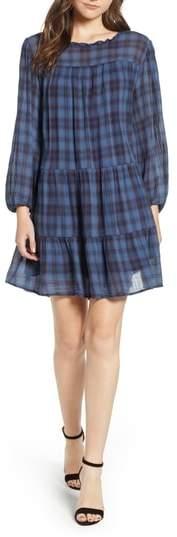 Velvet by Graham & Spencer Soft Tiered Plaid Cotton Shift Dress