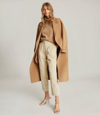 Reiss Aster - Pleat Front Corduroy Trousers in Neutral